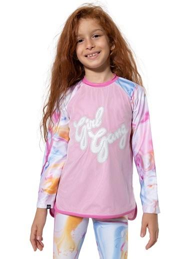 Colorinas Stay Active Girl Gang Tshirt Pembe